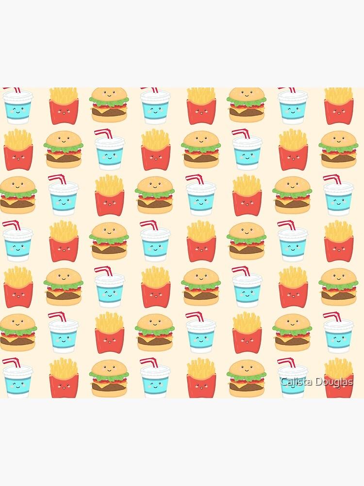 burger buddies repeating pattern by clockworkkite