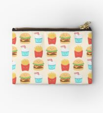 burger buddies repeating pattern Zipper Pouch