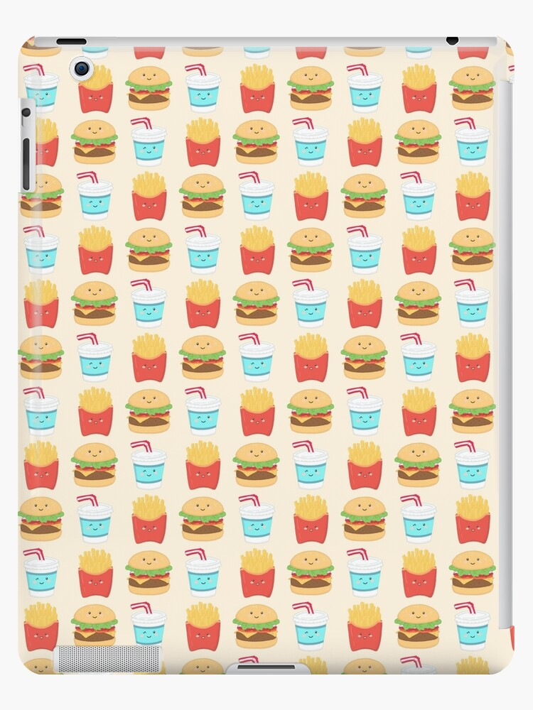 burger buddies repeating pattern by Calista Douglas
