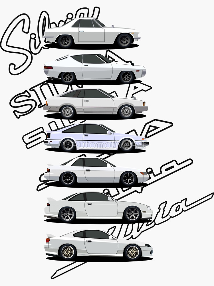 Nissan Silvia Generations Sticker By Automotiveart