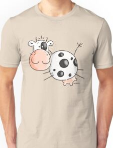 Happy Jumping Cow Unisex T-Shirt