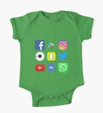 FOR APP LOVERS - Top apps, facebook, twitter, instagram One Piece - Short Sleeve