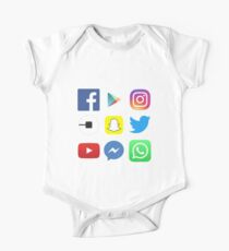 FOR APP LOVERS - Top apps, facebook, twitter, instagram One Piece - Short Sleeve