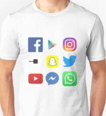 FOR APP LOVERS - Top apps, facebook, twitter, instagram Unisex T-Shirt