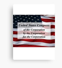 US Congress: of, by, and for the Corporation Canvas Print
