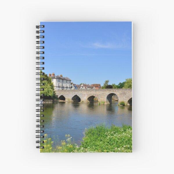 Bidford Bridge from South (Summer) Spiral Notebook