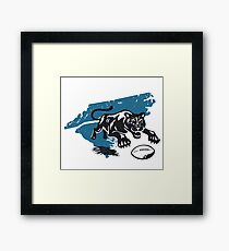 cat and ball Framed Print