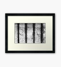 Brass Pillars (Black & White) Framed Print