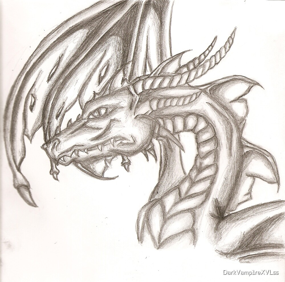 REVISED dragon sketch by DarkVamp1reXVLss