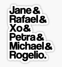 Jane The Virgin Characters Sticker