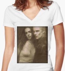 Spike and Faith Lehane Women's Fitted V-Neck T-Shirt