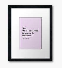 Hyacinth Bucket's Telephone Motto Framed Print