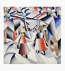 Kazimir Malevich - Morning in the Village after a Snowstorm (1913) Photographic Print
