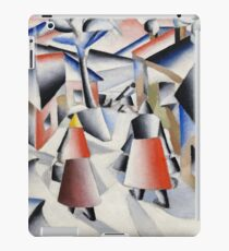Kazimir Malevich - Morning in the Village after a Snowstorm (1913) iPad Case/Skin