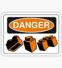 Danger Bricks Sign Sticker