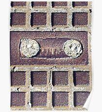 Old school vintage cassette lookalike stone Poster