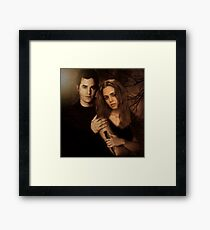 Xander Harris and Faith Lehane - Buffy the Vampire Slayer Framed Print