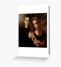 Xander Harris and Faith Lehane - Buffy the Vampire Slayer Greeting Card