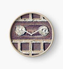 Old school vintage cassette lookalike stone Clock