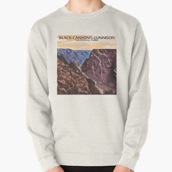 Black Canyon of the Gunnison National Park Colorado Vintage Decal Pullover Sweatshirt