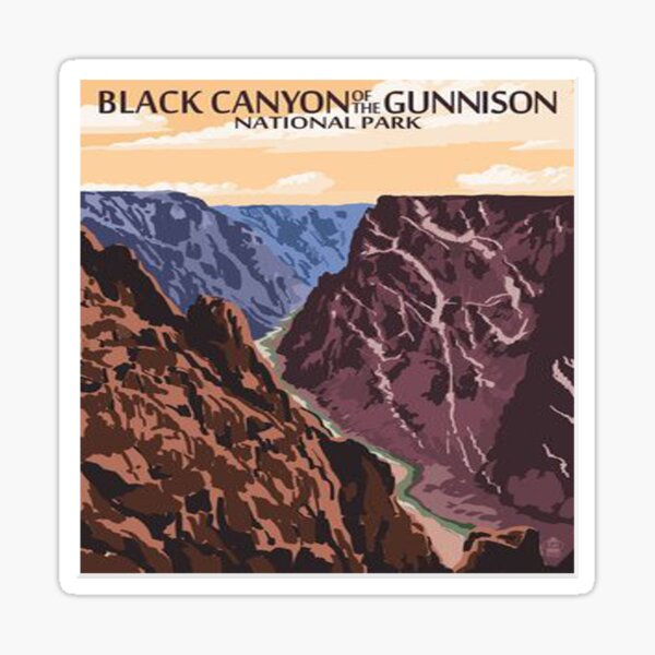 Black Canyon of the Gunnison National Park Colorado Vintage Decal Sticker