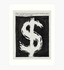 "Raymond Pettibon, ""The Symbol of Weakness Begins To Turn Into A Symbol of Strength "", 1987 Art Print"