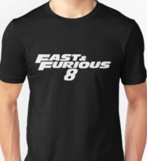 Fast and Furious 8 (White) Slim Fit T-Shirt