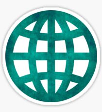 Green Globe Sticker