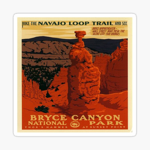 Bryce Canyon National Park Thor's Hammer  Sticker