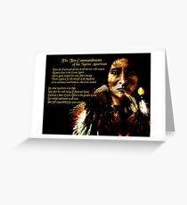 The Native American Ten Commandments Greeting Card