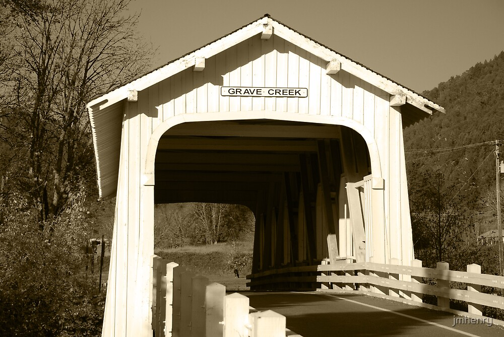 Grave Creek Bridge by jmhenry