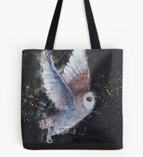 Nachthimmel Schleiereule Tote Bag