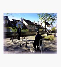 Playing Chess in Zurich Photographic Print