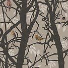 Birds on trees by sarknoem