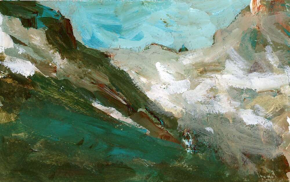 Abstract Mountain Landscape by bluerabbit
