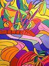 Currumbin Slide The Cougals Waterfalls [pastel] by Virginia McGowan