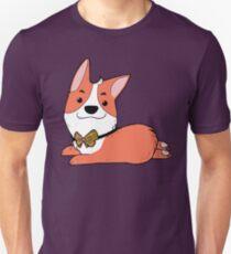 Corgi mit Fliege Unisex T-Shirt