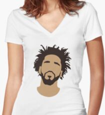 J Cole Silhouette Women's Fitted V-Neck T-Shirt