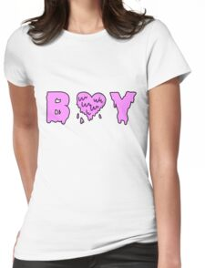 Boy with a Melted Heart Womens Fitted T-Shirt