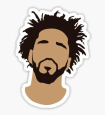 J Cole Silhouette Sticker