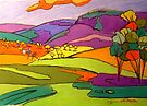 Numinbah Valley View by Virginia McGowan