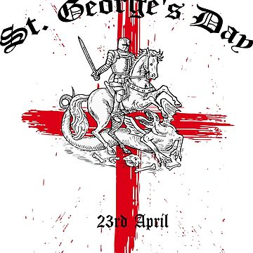 St. George's Day English And Proud Design 23rd April by 2stevos