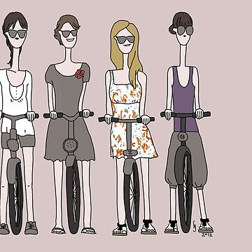 Girls with bikes by sarknoem