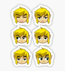 Toon Link Expressions Sticker