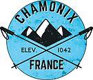 SKIING CHAMONIX MONT BLANC FRANCE Ski Mountain Mountains Skis Silhouette Snowboard Snowboarding 5 by MyHandmadeSigns