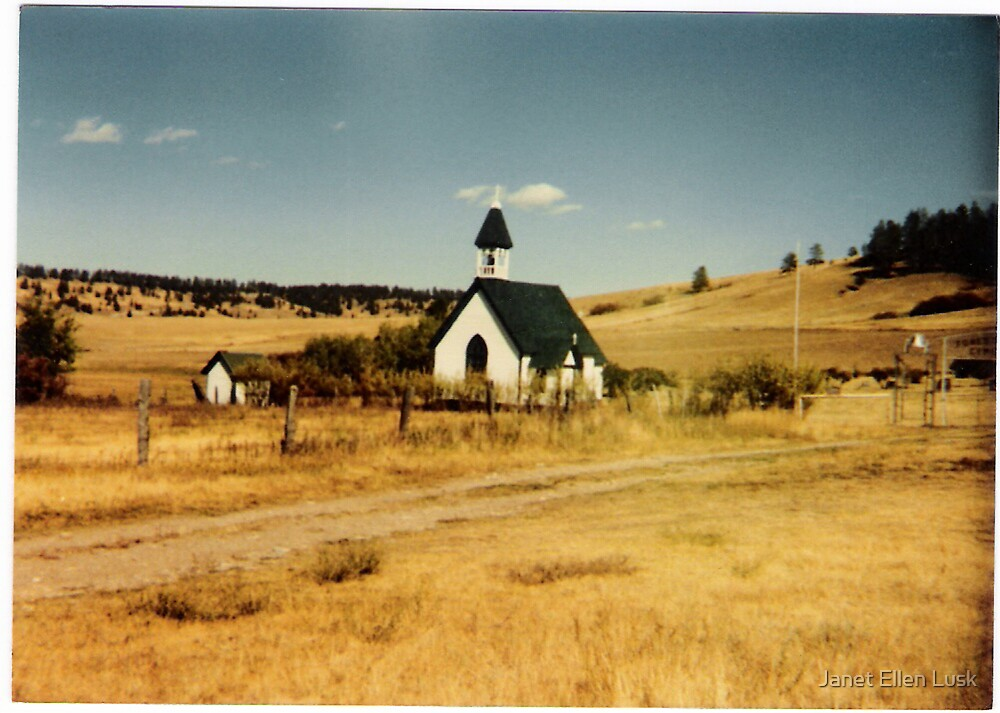 Country Church in Rural Montana by Janet Ellen Lusk