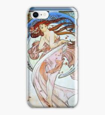 Alphonse Mucha Art Nouveau Beautiful Woman iPhone Case/Skin