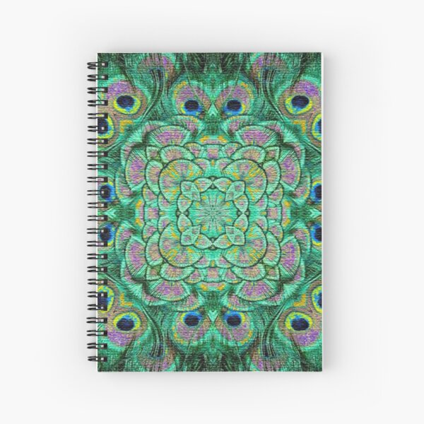 Peacock Frenzy Spiral Notebook