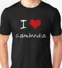 I love Heart Cambodia Unisex T-Shirt