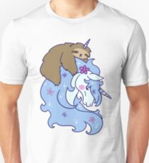 Unicorn and Unicorn Sloth Unisex T-Shirt